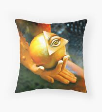Got my eye on the ball  Throw Pillow