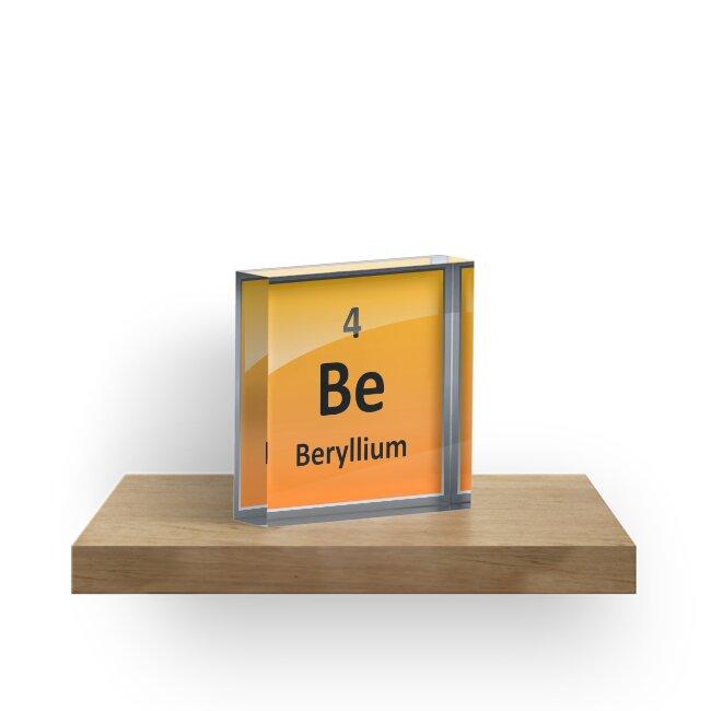 Beryllium element tile periodic table acrylic blocks by beryllium element tile periodic table by sciencenotes urtaz Gallery