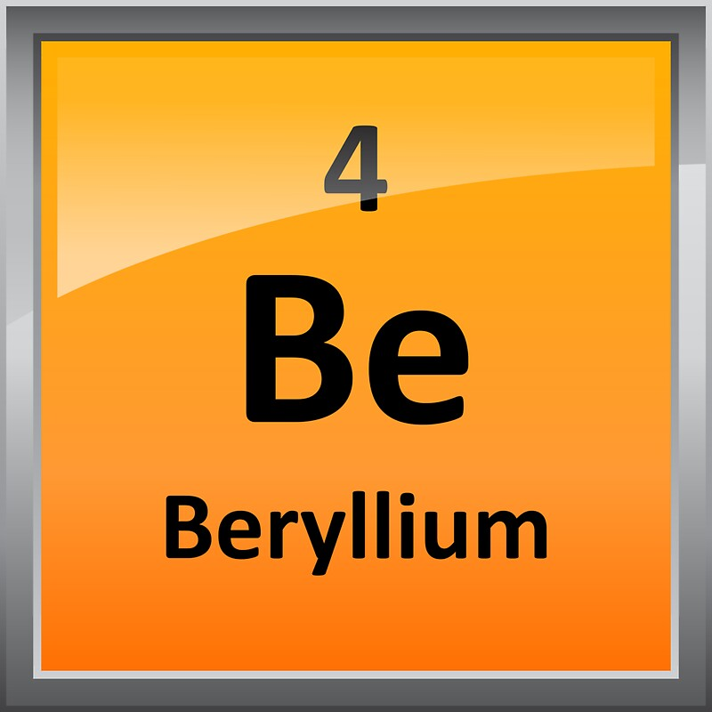 Beryllium element tile periodic table stickers by sciencenotes beryllium element tile periodic table by sciencenotes urtaz Image collections