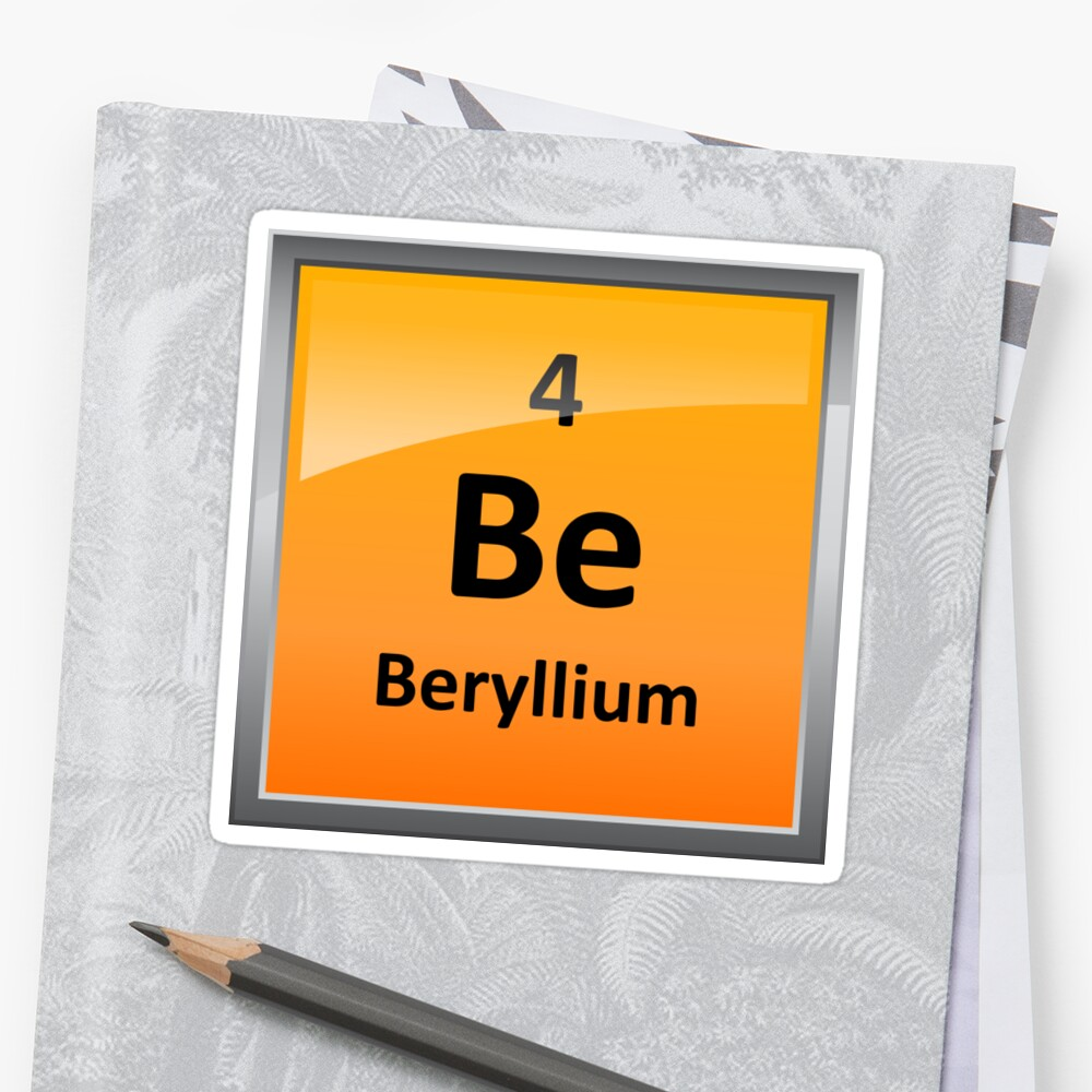Beryllium element tile periodic table stickers by sciencenotes beryllium element tile periodic table by sciencenotes buycottarizona Image collections