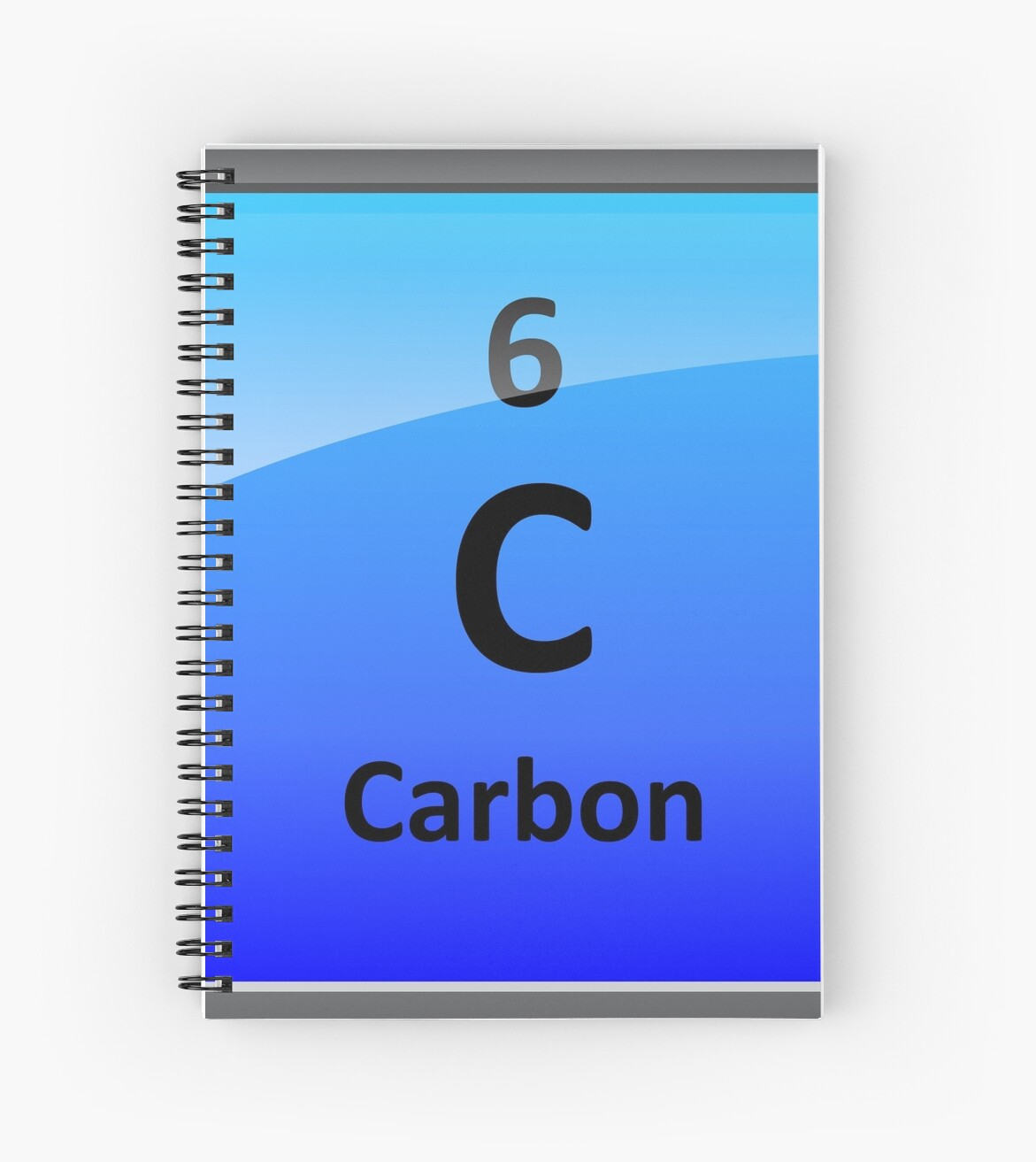 Carbon Element Tile Periodic Table Spiral Notebook By Sciencenotes