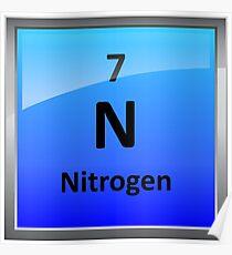 Nitrogen posters redbubble nitrogen element tile periodic table poster urtaz Choice Image