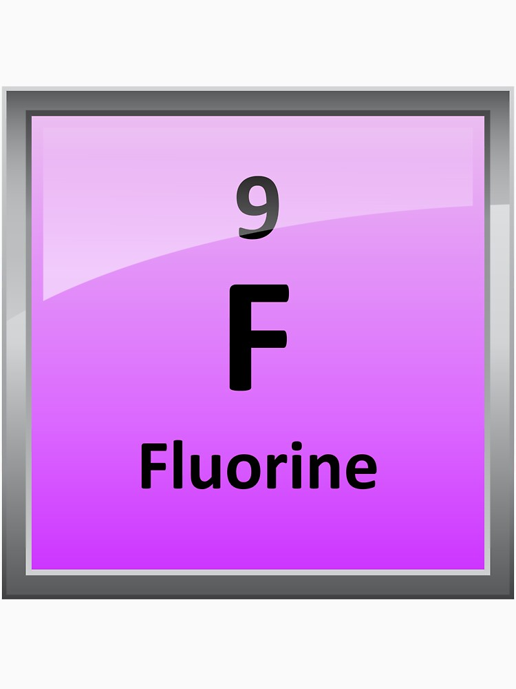 Fluorine Element Tile Periodic Table Unisex T Shirt By