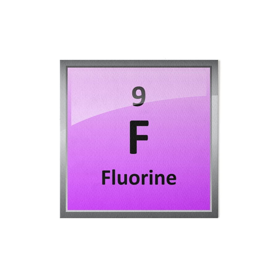 Fluorine element tile periodic table art boards by sciencenotes fluorine element tile periodic table by sciencenotes gamestrikefo Gallery
