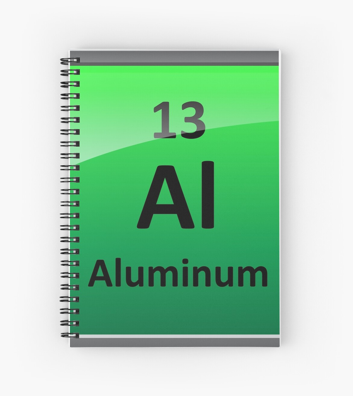 Aluminum element tile periodic table spiral notebooks by aluminum element tile periodic table urtaz Choice Image