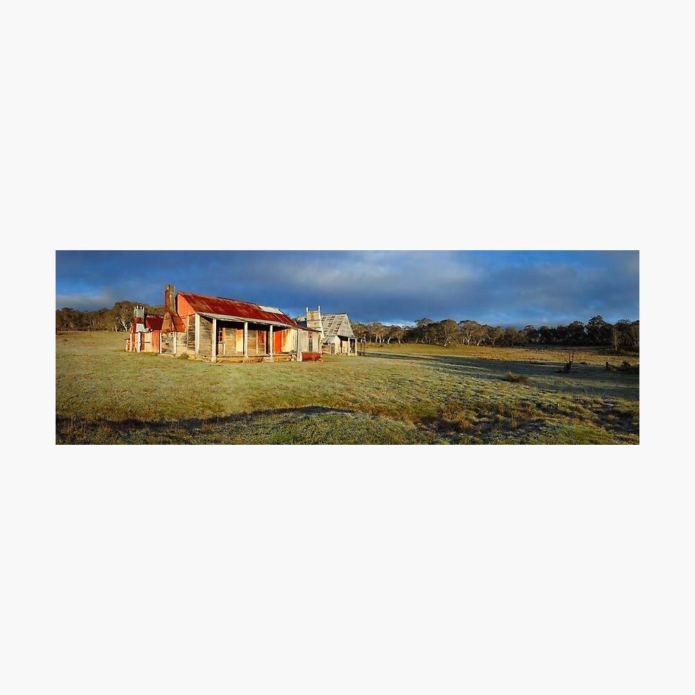 Morning Light finds Coolamine Homestead, Kosciuszko National Park, New South Wales, Australia Photographic Print