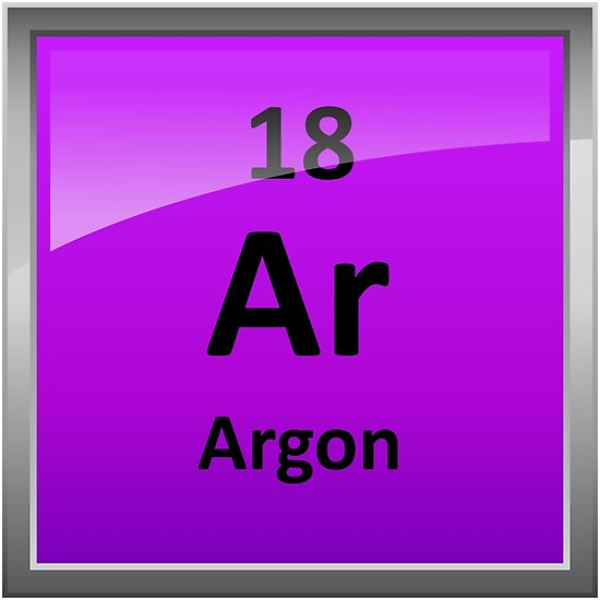 Argon Element Symbol Periodic Table Posters By Sciencenotes