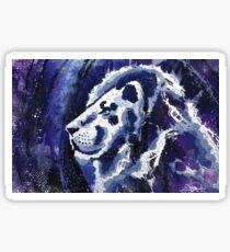 Lion Mixed Media Illustration Sticker