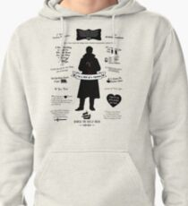 """Captain Hook """"Iconic Quotes"""" Silhouette Design Pullover Hoodie"""