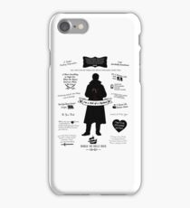 "Captain Hook ""Iconic Quotes"" Silhouette Design iPhone Case/Skin"