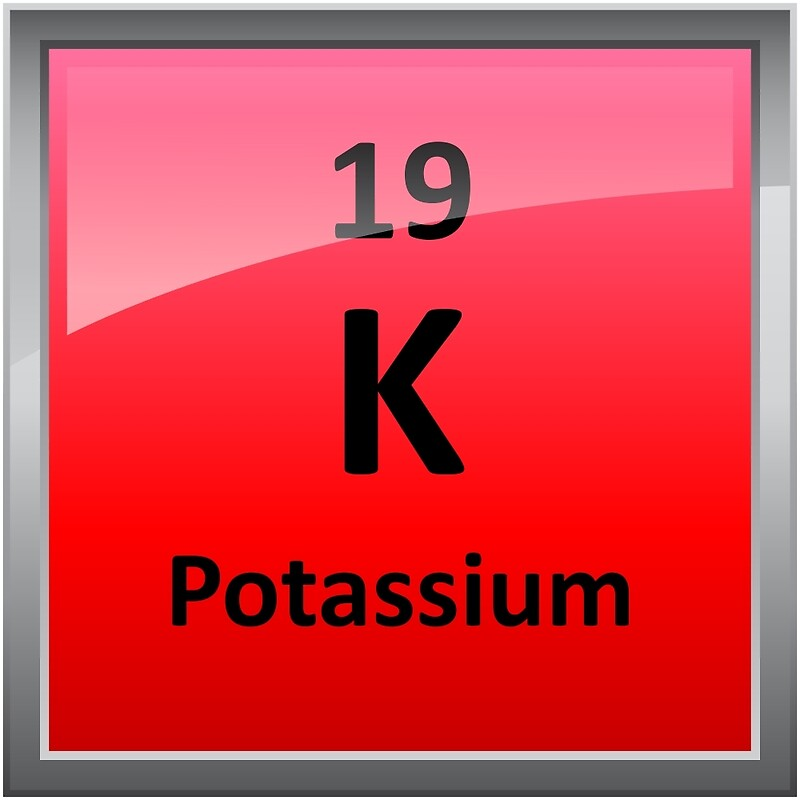 """Potassium - K - Periodic Table Element Symbol"" Posters by ..."