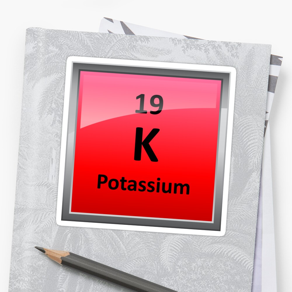 Potassium K Periodic Table Element Symbol Stickers By