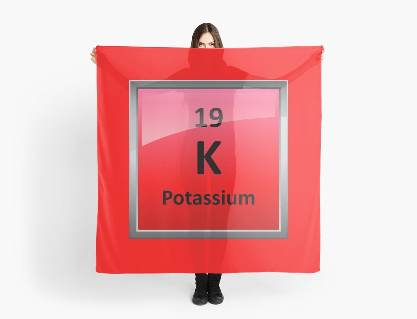 Potassium K Periodic Table Element Symbol Scarves By
