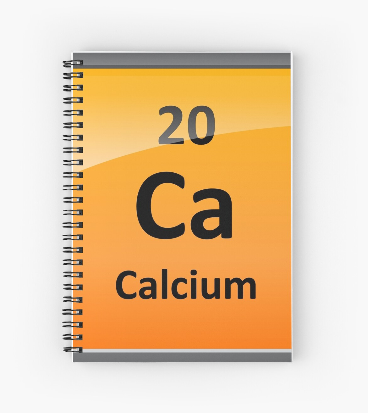 Calcium Element Symbol Periodic Table Spiral Notebooks By