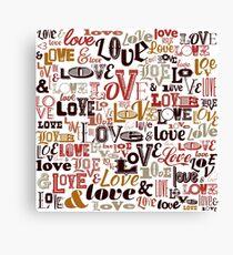 Vintage Love Typography  Canvas Print