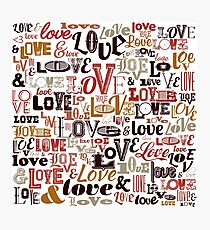 Vintage Love Typography  Photographic Print