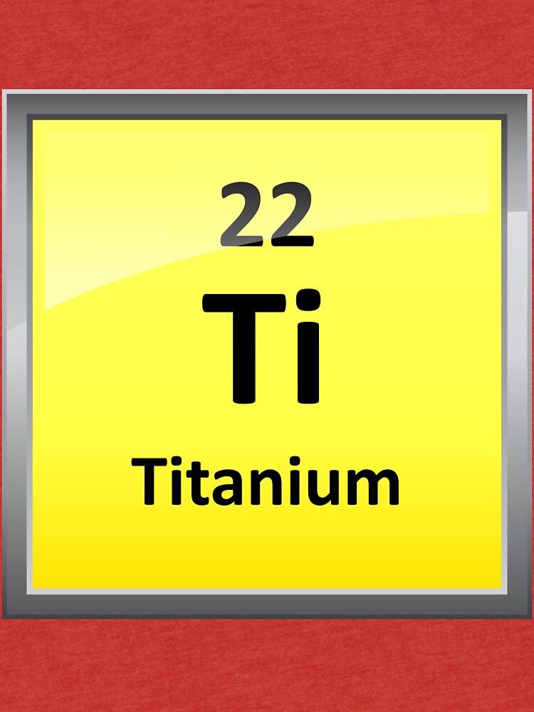 Camisetas de tejido mixto smbolo del elemento de titanio tabla smbolo del elemento de titanio tabla peridica urtaz Images