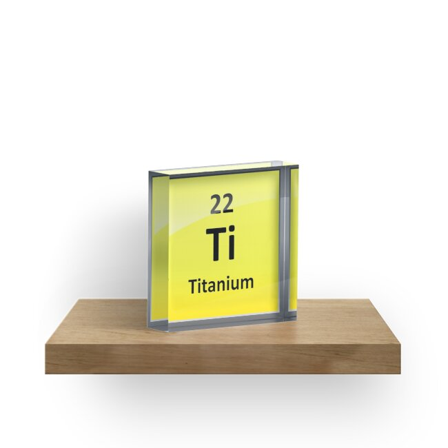 Titanium element symbol periodic table acrylic blocks by titanium element symbol periodic table by sciencenotes urtaz Image collections