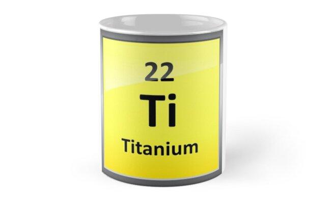Titanium Element Symbol Periodic Table Mugs By Sciencenotes