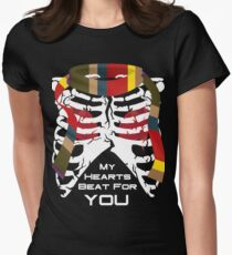 My Hearts Beat For You - 4th Dr Womens Fitted T-Shirt