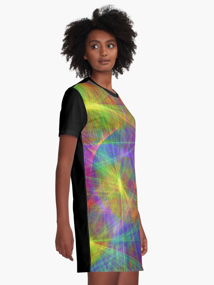 Alternate view of Disco stage lights Graphic T-Shirt Dress