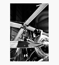 Black and White Silver Propellers  Photographic Print