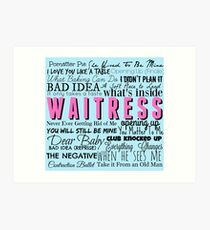Waitress Original Cast Recording Art Print