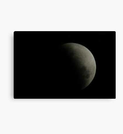 Partial eclipse of the moon, 26-6-10, 8:25pm Canvas Print