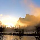 Yosemite Valley Dawn Silhouette by Rosalee Lustig
