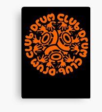 drum club t shirt Canvas Print