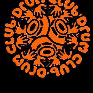 drum club t shirt by RudieSeventyOne