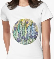 Dandelions.Hand draw  ink and pen, Watercolor, on textured paper T-Shirt
