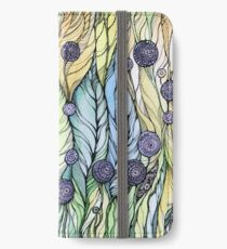 Dandelions.Hand draw  ink and pen, Watercolor, on textured paper iPhone Wallet/Case/Skin