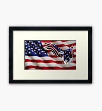 Independence Day Eagle Framed Print