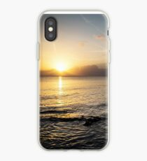 Sunset Beach Combing iPhone Case