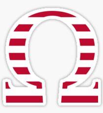 Stripes Omega Sticker