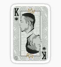 King Kendrick Playing Card Sticker