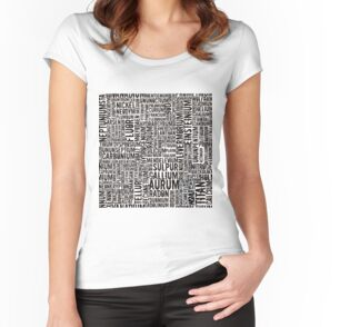 Chemical Elements Tailliertes Rundhals-Shirt