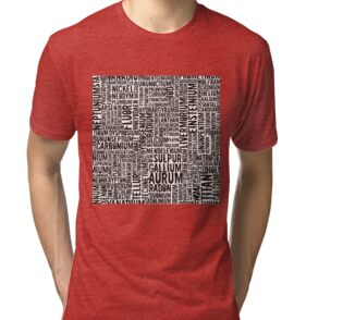 Chemical Elements Vintage T-Shirt