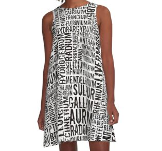 Chemical Elements A-Linien Kleid