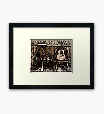 Guns and Guitar Framed Print