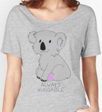 """""""Always Huggable"""" Koala Women's Relaxed Fit T-Shirt"""