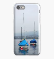 Misty Day on Lake Zurich iPhone Case/Skin