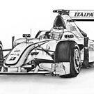 Jenson Button Brawn Formula 1 by mik gailson