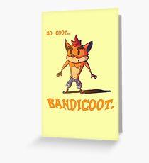 Bandicoot. Greeting Card