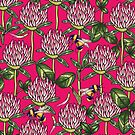 Red clover pattern by smalldrawing