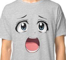 Anime face blue eyes Classic T-Shirt