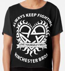 Keep Fighting Chiffon Top