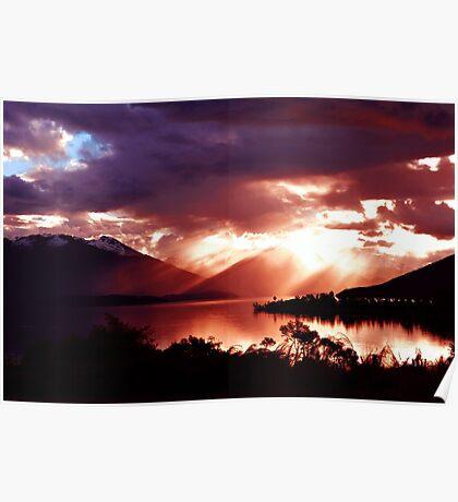 Lake Te Anau. South Island, New Zealand. (2)  Poster