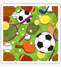 Sport ball seamless pattern Sticker